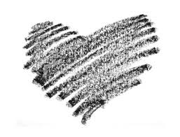 black crayon heart